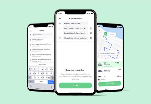 Новая функция Bolt: добавляй остановки в свой маршрут поездки
