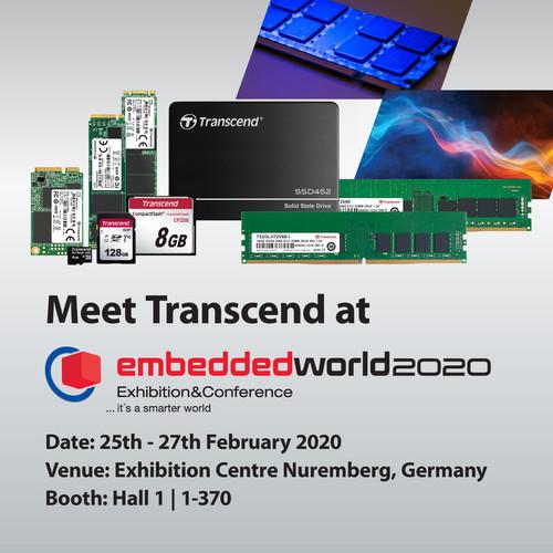 Transcend продемонстрирует свои встроенные решения на выставке Embedded World 20