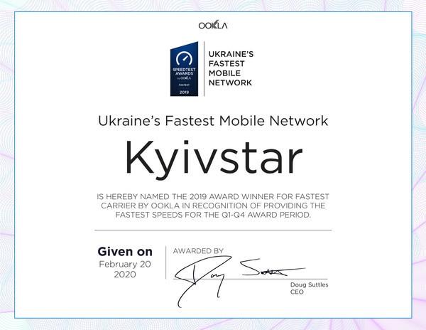 Киевстар второй год подряд лидер по скорости интернета