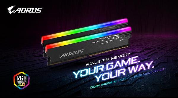 GIGABYTE анонсирует 16-Гбайт комплект памяти AORUS RGB MEMORY 4400 МГц