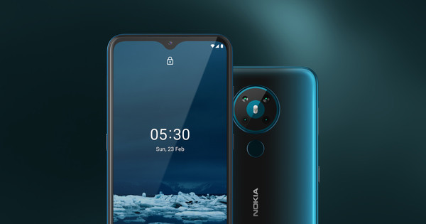 В Украине стартовали продажи Nokia 5.3 — смартфона с квадрокамерой