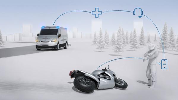 Bosch внедряет функцию автоматических экстренных вызовов для мотоциклов