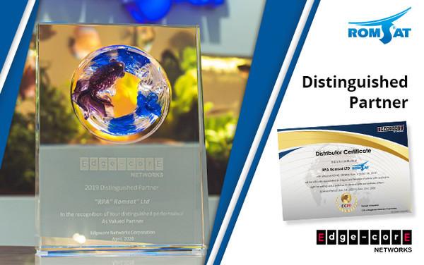 РОМСАТ получил награду от Edge-Core и продлил дистрибьюторский контракт