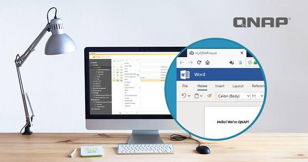 Онлайн-редактирование документов Microsoft Office в веб-интерфейсе QTS от QNAP