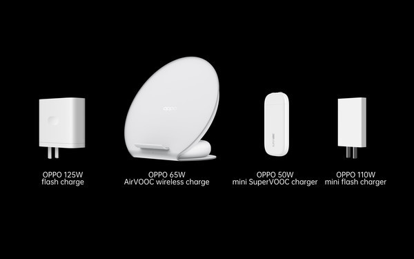 OPPO презентовали 125 Вт Flash Charge, беспроводную быструю зарядку 65 Вт и др.