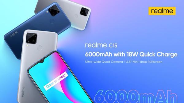 Смартфон Realme C15 предложит квадрокамеру и батарею на 6000 мА·ч всего за $140
