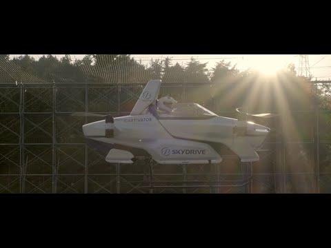 В Японии протестировали летающий автомобиль с человеком на борту