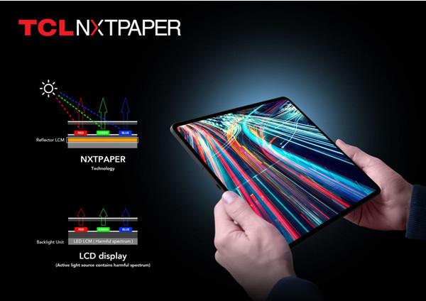 TCL представила дисплей нового типа NXTPAPER: лучше электронной бумаги