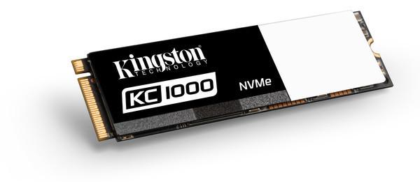 Kingston представляет KC1000 NVMe PCIe SSD