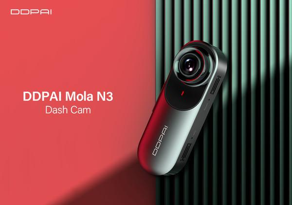 DDPai Dash Cam Mola N3 1600P HD GPS - компактный видеорегистратор с Wi-Fi