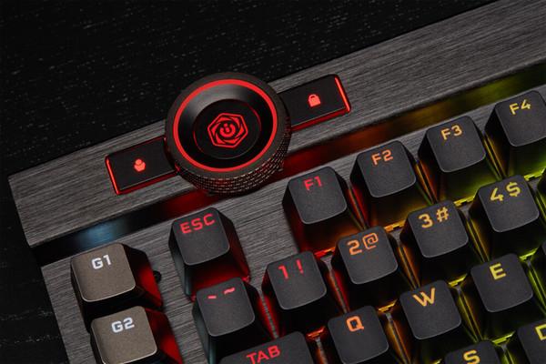 Механическая клавиатура Corsair K100 RGB за 0 снабжена колесом управления