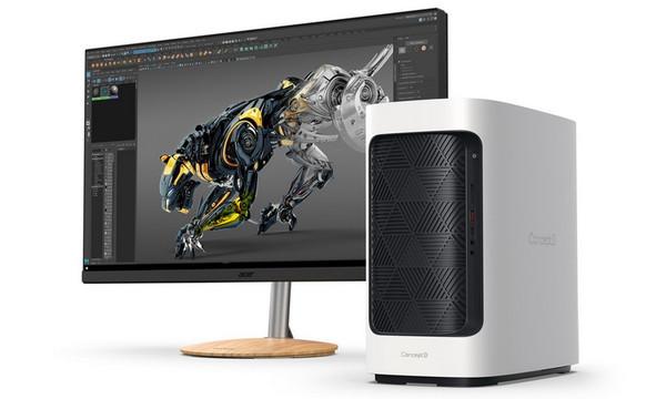 Acer представила десктоп ConceptD 300 и обновлённые ноутбуки ConceptD