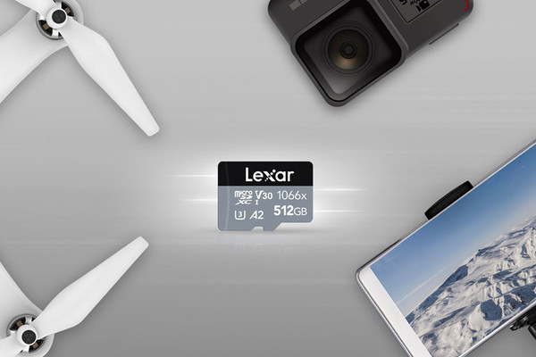Профессиональные microSD-карты Lexar Silver имеют ёмкость до 512 Гбайт