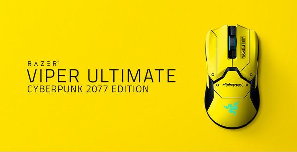 Razer Viper Ultimate Cyberpunk 2077 Edition - специальный релиз мышки Viper