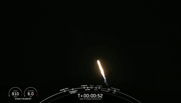 SpaceX успешно запустила спутник GPS III для космических сил США