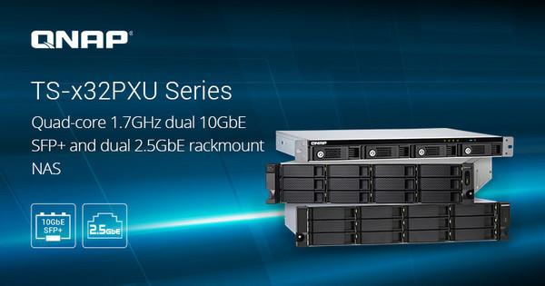 Сетевые накопители QNAP TS-x32PXU для монтажа в стойку