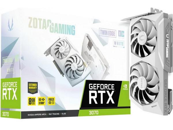 Zotac выпустила белоснежные GeForce RTX 3080 и 3070