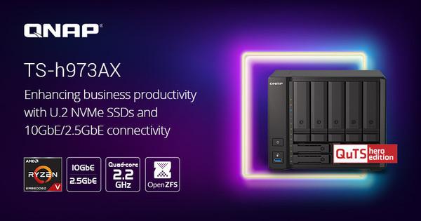 QNAP TS-h937AX  — гибридный 9-дисковый NAS под управлением ОС QuT hero