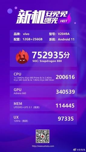 Грядущий флагман iQOO 7 оказался быстрее Xiaomi Mi 11 в бенчмарке AnTuTu