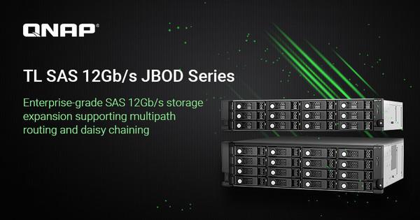 Модули расширения QNAP NAS для общей емкости до 4,6 ПБ и подключения SAS 96 Гбит