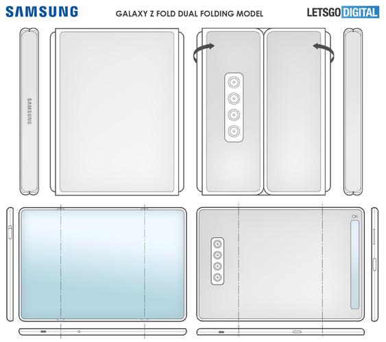 Samsung придумала ещё три версии смартфона, у которого экран гнётся