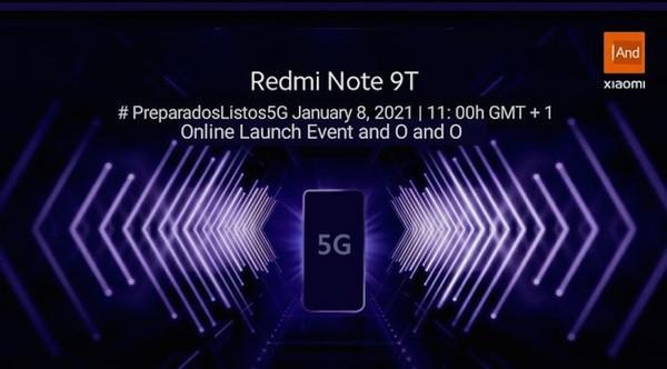 Xiaomi представит 5G-смартфон Redmi Note 9T восьмого января