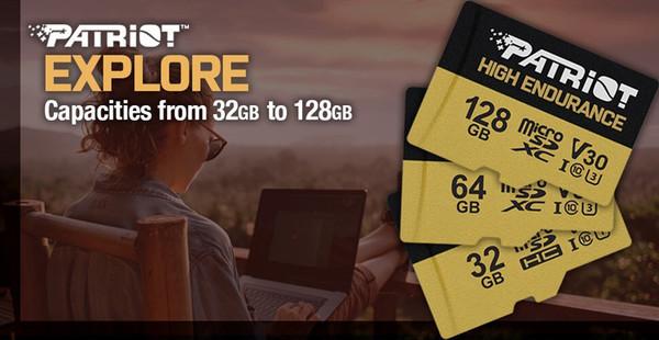 Patriot представила карты памяти High Endurance SDXC объёмом до 128 Гбайт
