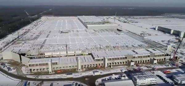 Tesla показала, как продвинулось строительство огромного завода под Берлином