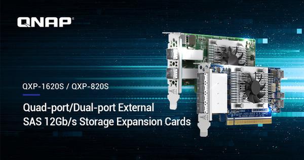 Карты с портами SAS 12 Гбит/с для расширения емкости NAS до 4,6 ПБ от QNAP