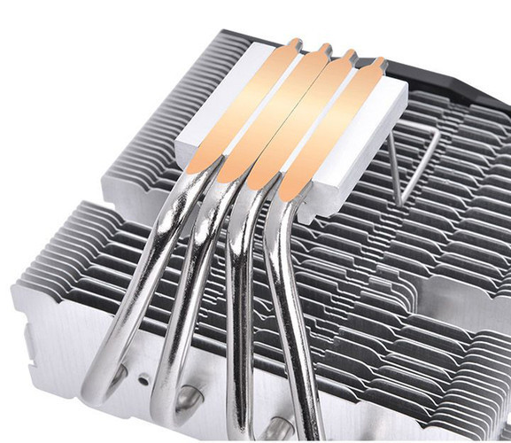 Кулер Thermaltake ToughAir 110 формата Top Flow снабжён 4-мя тепловыми трубами