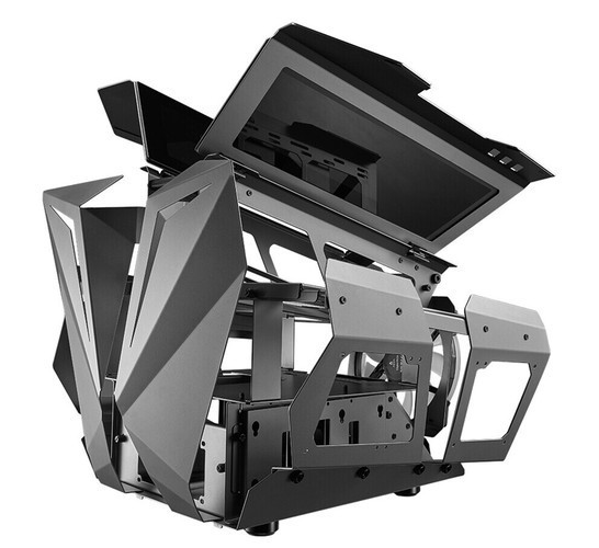 Представлен открытый корпус AZZA Overdrive, который напоминает двигатель V8