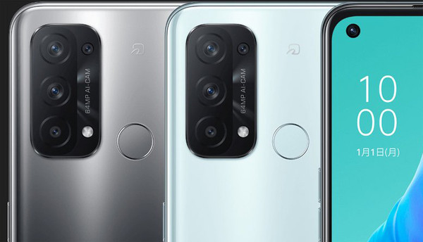 OPPO готовит смартфон среднего уровня Reno5 A с четырьмя тыльными камерами